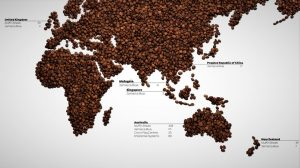 Coffee Map with store numbers
